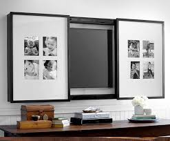 flat screen tv covers decorative far fetched cover with diptych photo frame also clean lines home