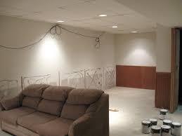 ... Large Size Cool Basement Lighting Ideas Unfinished Ceiling Photo  Decoration Inspiration ...