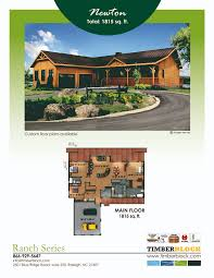 log home floor plans log homes by timber block fabulous featured floor plan friday chooses plan from ranch series