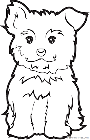 Print out as many as you'd like. Puppy Outline Coloring Pages Clipartfort Animals Pets Yorkie Puppy Printable Coloring4free Coloring4free Com