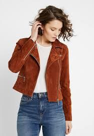 onlkamille biker jacket leather jacket mocha bisque