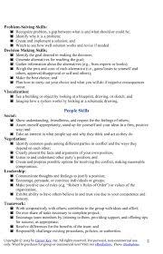 My Works Skills List For Jen Career Key