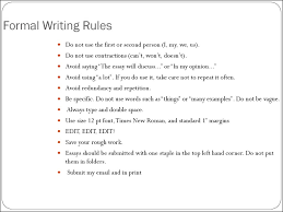how to write an essay  11 formal writing rules