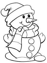 Small Picture Cute Snowman Coloring Page Color Luna