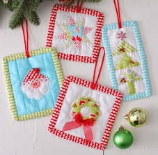 209 best Christmas Ornaments images on Pinterest | Christmas ... & Pattern - Christmas Quilt Ornament Pattern - Christmas Candy Ornaments by  Cotton Way Adamdwight.com