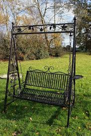 leaf design garden swinging seat black country metalworks ltd garden design leaf design gardens and swing seat