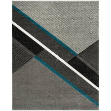 safavieh hollywood gray teal 8 ft x 10 ft area rug