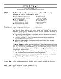 Resume Examples Marketing