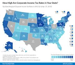 State Corporate Income Tax Rates And Brackets For 2015 Tax