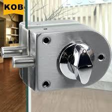 glass door lock type glass door lock sliding glass door locks no drilling