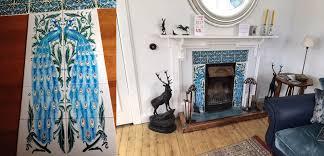 william de morgan turquoise pea fireplace scotland