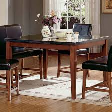 Kitchen Tables With Granite Tops Steve Silver Montibello Granite Top Rectangular Table Dining