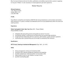 Food Service Worker Job Description Cover Letter Fine Dining