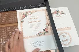 Free Delicate Floral Wedding Invitation Suite
