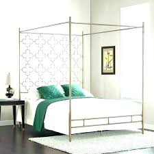 decoration: Gold Canopy Bed Frame White Queen Bedroom Set Size Wood ...