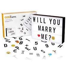 cosi home a4 cinematic light box with 100 letters emoji smilies and symbols personalise your own message battery and usb power amazon co uk
