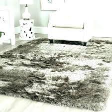 white rug white fur area rug