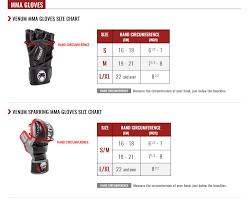 venum mma gloves size chart