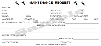 Maintenance Request Form Template Excel Maintenance Work Order Template Zrom Tk Apartment Philro Post