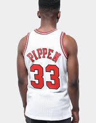 Mitchell And Ness Swingman Size Chart Mitchell Ness Chicago Bulls Scottie Pippen 33 Swingman Jersey White