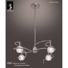 modern chrome ceiling pendant light