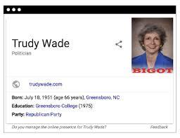 "Google is labeling a Trump-supporting Republican state senator a ""BIGOT"""