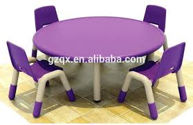 childrens round table and chairs elegant purple color plastic chair and round table kids homework table