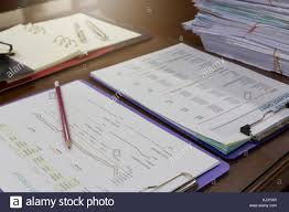 Business And Finance Concept Of Analysis Chart On Office