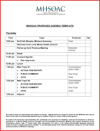 agenda template for word best of agenda template microsoft word resume for a job