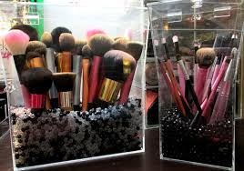 lid acrylic middot makeup brush storage ideas 4806 gl makeup brush holder