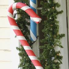 Candy Cane Yard Decorations Christmas Yard Decorations Pool Noodle Candy Canes Spoonful 39