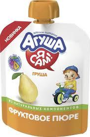 Купить <b>фруктовое пюре АГУША</b> Я САМ, груша, 90г в торговых ...