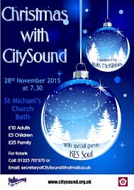 Christmas Concert Poster Citysound In Concert Christmas With Citysound Citysound Voices Bath