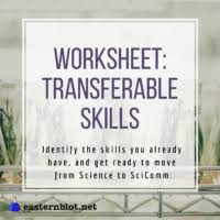 Transferable Skills Worksheet Finding Science Communication Jobs With Transferable Skills