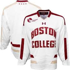 under armour eagles. under armour boston college eagles tackle twill hockey jersey - white k
