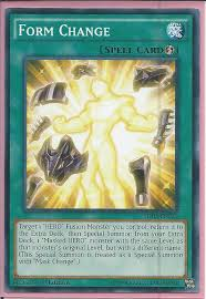 form change yugioh structure deck hero strike trading card mint