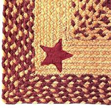 primitive braided rugs hearts stars berries accent runner area rug country rustic whole