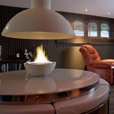 smlf circular fireplace hood gas contemporary open hearth central fire for insert