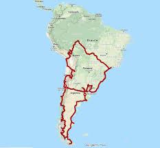 Traccia GPX: TAPPA 5: Argentina - Cile, 40.000 km in moto attraverso Ande e  Patagonia