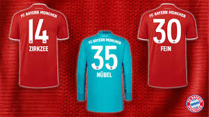 Fc bayern munich white outfits football soccer third the past product launch sports online websites kit. Here Are The Shirt Numbers For Zirkzee Fein And Nubel