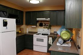 brown cabinets with white appliances kitchens