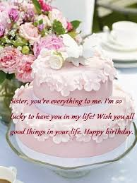 sweet birthday cake wishes messages for