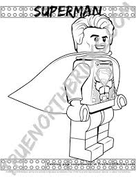 Includes spiderman, batman, and superman. Superman Coloring Page Free For A Limited Time From True North Bricks