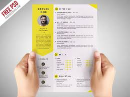 Free Infographic Resume Psd Template - April.onthemarch.co