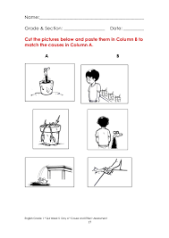 Cause And Effect Worksheet 1St Grade Free Worksheets Library ...