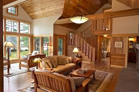 view in gallery reclaimed birch used to give the floor ceiling and the walls a natural appeal