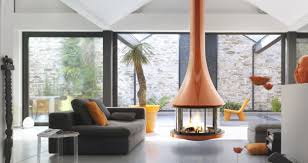 Coloured fireplace