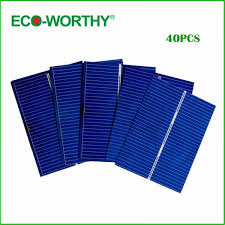 eco worthy 40pcs 52 39 solar photovoltaic cells kits diy solar panel for home system