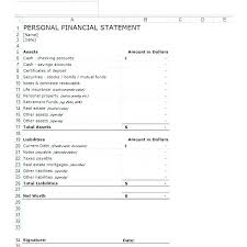 financial statement format personal financial statement template excel aakaksatop club