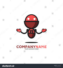 Robot Logo Design Funny Modern Sophisticated Robot Logo Design Stock Vector